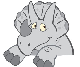 illustration of a cute Triceratops